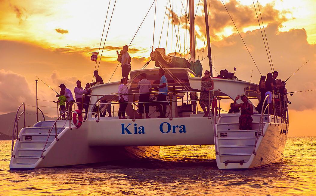 เรือ Kia Ora เรือยอร์ชหรู บนเกาะสมุย จ.สุราษฎร์ธานี